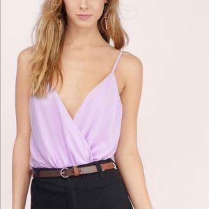 Buena Wrap Lavender Bodysuit